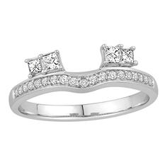 0.25 ct. t.w. 14K White Gold Brilliant 2-Side Princess Cut Enhancer Wrap (H-I, I1)