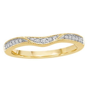 0.15 ct. t.w. 14K Yellow Gold Contour Band with Milgrain (H-I, I1)