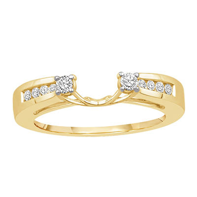 0.25 ct. t.w. 14K Yellow Gold Enhancer Wrap With Round Brilliant Diamonds (H-I, I1)