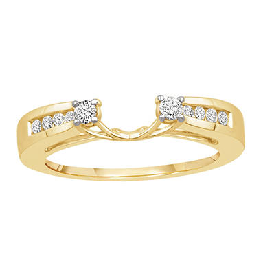 0.25 ct. t.w. 14K Yellow Gold Enhancer Wrap With Round Brilliant Diamonds (H-I, I1)