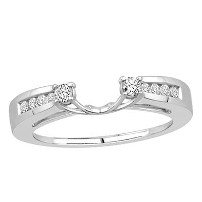 0.25 ct. t.w. 14K White Gold Enhancer Wrap With Round Brilliant Diamonds (H-I, I1)