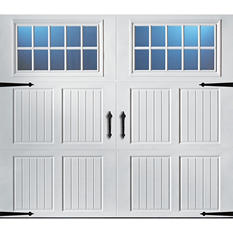 Amarr Classica 2000 White Carraige House Garage Door - Multiple Options Available