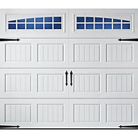 Amarr Oak Summit 2000 White Carraige House Garage Door - Multiple Options Available