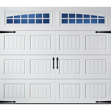 Amarr Oak Summit 1000 White Panel Garage Door - Multiple Options Available