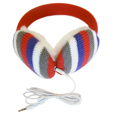 Lobers Fashion Earmuffs Wired for Sound - Pink Stripe