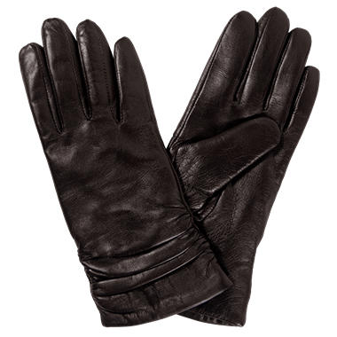 Women's Premium Lambskin Leather Gloves - Brown