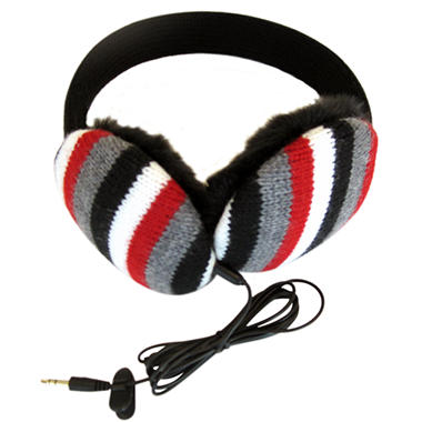 Lobers Fashion Earmuffs Wired for Sound - Black Stripe