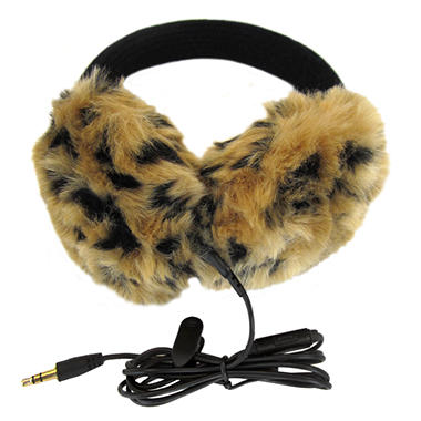 Lobers Fashion Earmuffs Wired for Sound - Leopard Print
