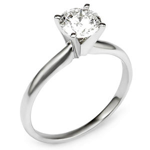 1.00 ct. Round Diamond Solitaire Engagement Ring in 14K Gold (HI, I1)