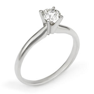 .50 ct. Round Diamond Solitaire Engagement Ring in 14K Gold (HI, I1)