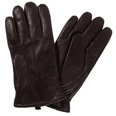 Men's Premium Lambskin Leather Gloves - Brown