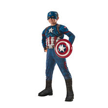 Civil War Captain America Muscle-Chest Halloween Costume Small
