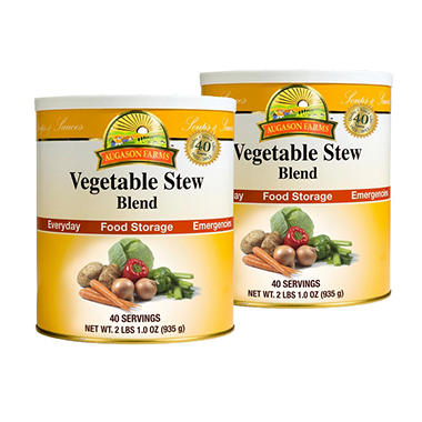 Augason Farms Vegetable Stew Blend - #10 cans - 2 pk.