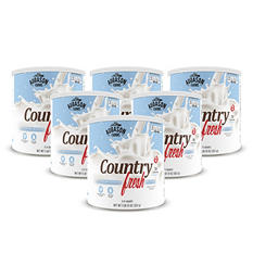 Augason Farms Country Fresh 100% Instant Nonfat Dry Milk - #10 cans - 6 pk.