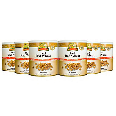 Augason Farms Hard Red Wheat - 6 pk.