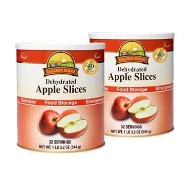 Augason Farms Food Storage Dehydrated Apple Slices - 2 pk.