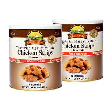 Augason Farms Food Storage Vegetarian Meat Substitute Chicken - 2 pk.