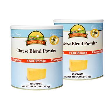 Augason Farms Cheese Blend Powder - #10 cans - 2 pk.