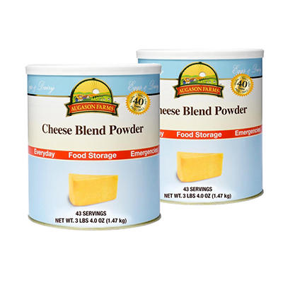 Augason Farms Cheese Blend Powder - #10 cans - 2 pk.