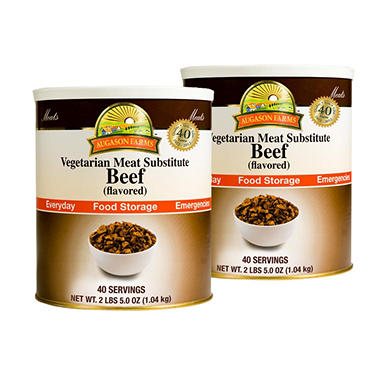 Augason Farms Food Storage Vegetarian Meat Substitute Beef - 2 pk.