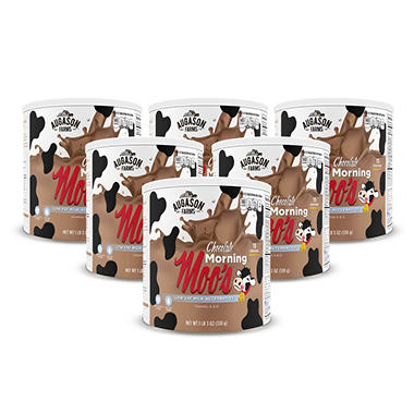 Augason Farms Food Storage Chocolate Morning Moo's Low Fat Milk Alternative - 6 pk.