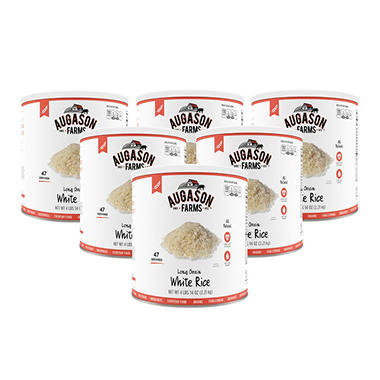 Augason Farms Long Grain White Rice - 6 pk.