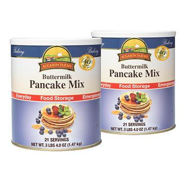 Augason Farms Buttermilk Pancake Mix - #10 cans - 2 pk.