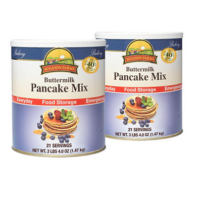 Augason Farms Buttermilk Pancake Mix - #10 cans - 2 pk.