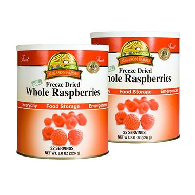 Augason Farms Food Storage Freeze Dried Whole Raspberries - 2 pk.