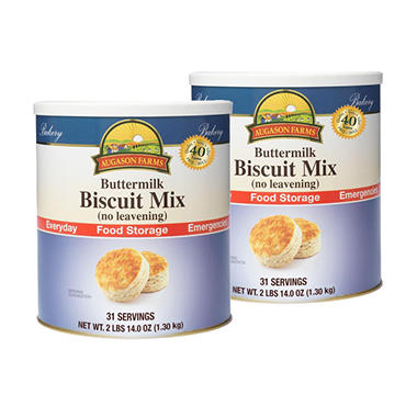 Augason Farms Food Storage Buttermilk Biscuit Mix - 2 pk.