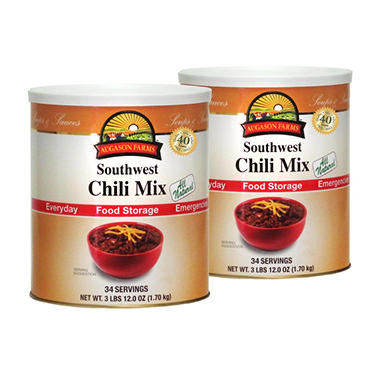 Augason Farms Food Storage Southwestern Chili - 2 pk.