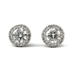 .70 ct. t.w. Unique Brilliance Diamond Stud Earrings in 14K White Gold (HI, I1)