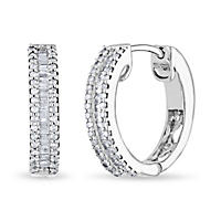 .46 ct. t.w. Diamond Baguette Hoop Earrings (Appraisal Value: $945)