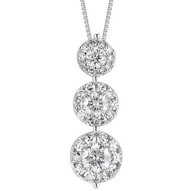 0.75 ct. t.w. Unity Diamond Three-Stone Pendant (I, I1)