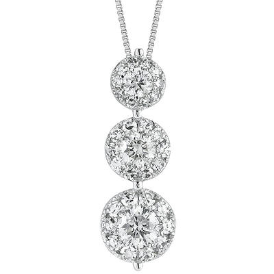 0.75 ct. t.w. Unity Diamond Three-Stone Pendant (I, I1)