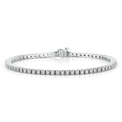 2.0 ct. t.w. Diamond Tennis Bracelet in 14K White Gold (I, I1)