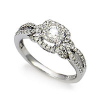 .65 ct. t.w. Unique Brilliance Diamond Engagement Ring in 14K White Gold (HI, I1)