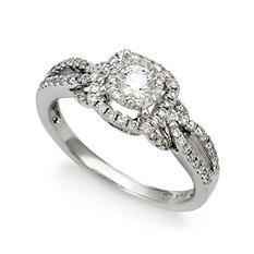 .65 ct. t.w. Unique Brilliance Diamond Bridal Ring in 14K White Gold (HI, I1)