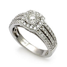 1.00 CT. T.W. Unique Brilliance Diamond Engagement Ring in 14K White Gold HI, I1 (IGI Appraisal Value: $2035)
