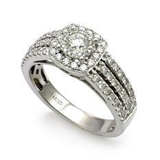 1.00 ct. t.w. Unique Brilliance Diamond Bridal Ring in 14K White Gold (HI, I1)