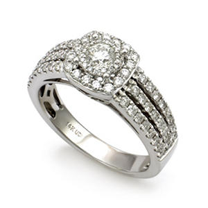1.00 ct. t.w. Unique Brilliance Diamond Bridal Ring in 14K White Gold (HI, I1)