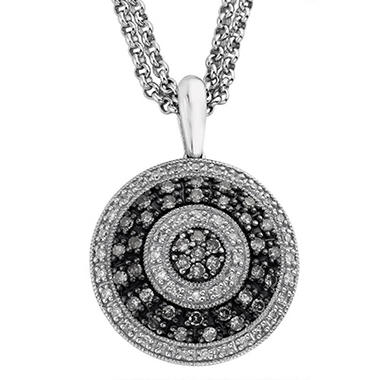 0.63 ct. t.w. Silvermist Wheel Pendant in Sterling Silver