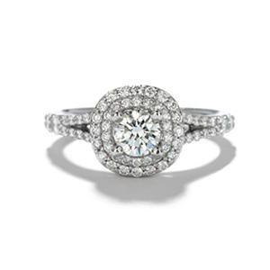 Premier Diamond Collection 2.00 CT. Round Double Halo Engagement Ring in 18K White Gold G, VS2 (IGI Appraisal Value: $7,305)