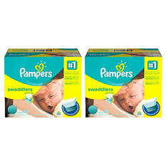 Pampers Swaddlers Pick 2 Diaper Bundle, Economy Pack  (Choose Your Sizes)