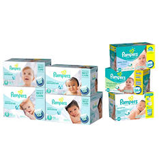 Pampers Swaddler Sensitive Diaper and Wipe Bundle (Choose Your Size)