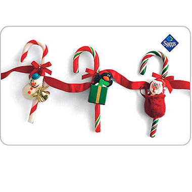 Candy Cane Holiday Gift Card