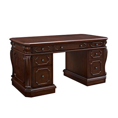 Bombay Heritage Alexandria Executive Office Desk, Vintage Mahogany