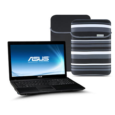 ASUS X54C Laptop Intel Celeron B815, 320GB, 15.6 - Black Case Included with Windows 8 Pro Upgrade Option