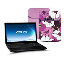 ASUS X54C Laptop Intel Celeron B815, 320GB, 15.6 - Purple Case Included