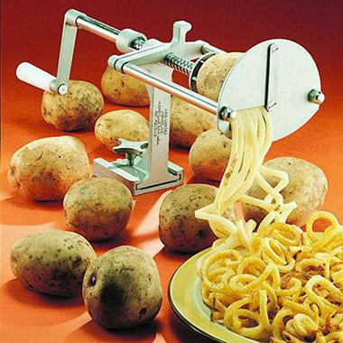 Spiral French Fry Potato Cutter